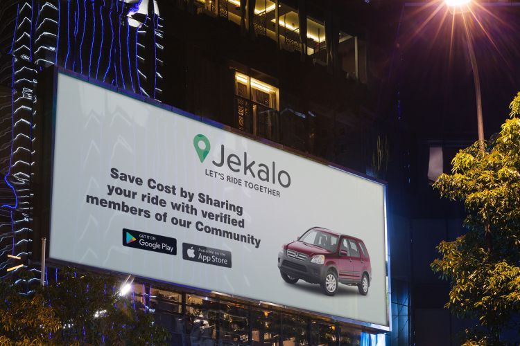 jekalo billboard mockup psd offer ride within Lagos