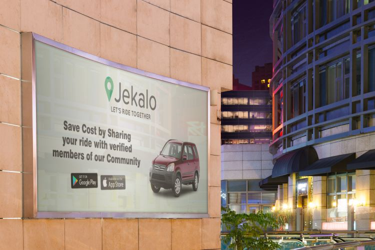 jekalo Billboard branding mockups let's ride together offer ride within Lagos