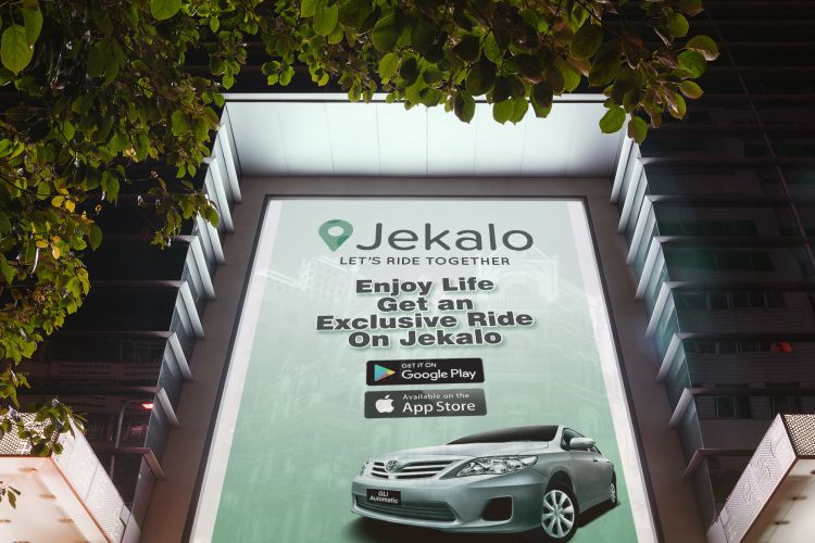 jekalo poster adverts offer or join rides within lagos, get an exclusive ride within Lagos