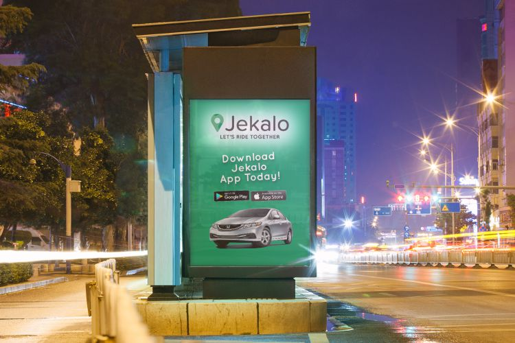jekalo Billboard adverts offer or join a ride within Lagos