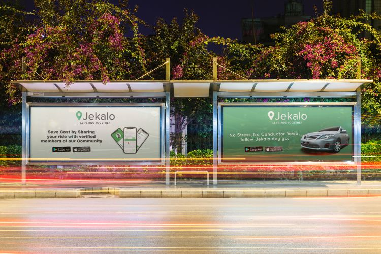 lagos riders jekalo adverts billboard offer a ride within lagos mockups