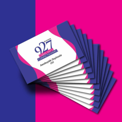best printers in lagos nigeria 927 cakes int'l Business Cards