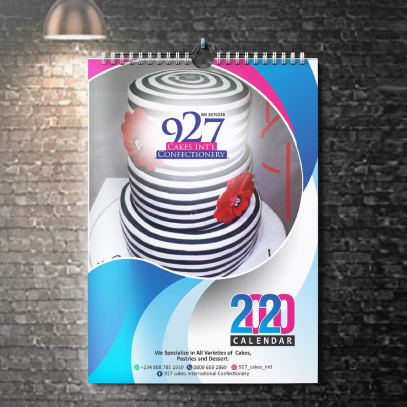 wall calendar printing and design in Lagos Nigeria